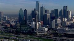 Dallas Skyline Morning Stock Footage
