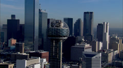 Dallas Skyline Morning Stock Footage