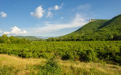 High mountain cliff in crimea, ucraine or russia Stock Photos