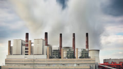 Power Station In The Evening Stock Footage