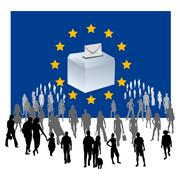 European elections Stock Illustration