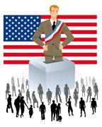 u.s. election - stock illustration