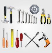 Vector Material Hardware Tools - stock illustration
