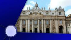 St. Peters Basilica, Rome, with Alpha Channel Last Media Stock Footage