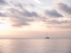 Andaman sea and sailboat Stock Photos