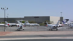 Private Jets Parking Space Las Vegas Stock Footage