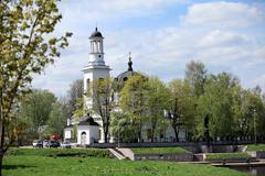 church of sts. alexander nevsky - stock photo
