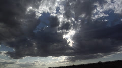 Heavy Clouds on the Evening Sky Stock Footage