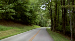 POV along the Blue Ridge Parkway in North Carolina Stock Footage