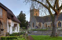 Worcestershire village - stock photo