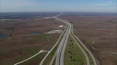 Dallas Texas Skies Plane Stock Footage