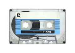 Cassette tape isolated on white with clipping path Stock Photos