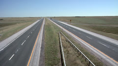 Interstate 25 North of Cheyenne Wyoming Stock Footage
