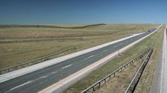 Interstate 25 North of Cheyenne Wyoming Stock Footage