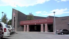 Entrance to the Bradbury Science Museum at Los Alamos New Mexico Stock Footage