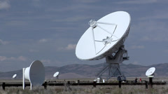 Radio Antennas at the Very Large Array of the National Radio Astronomy - stock footage