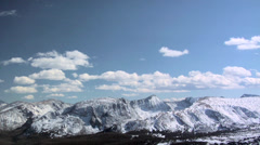 Glacier Landscape at the Rocky Mountain National Park - stock footage