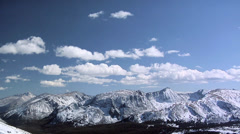 Glacier Landscape at the Rocky Mountain National Park Stock Footage