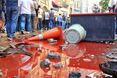 istanbul - jun 1: plans to build on gezipark led to anti government unrest on - stock photo