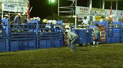 Shrine rodeo bull riding 4k Stock Footage