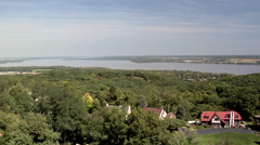 View from the Observation Tower at Peoria Heights Illinois - stock footage
