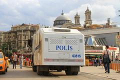 istanbul - jun 12: plans to build on gezipark led to anti government unrest o - stock photo