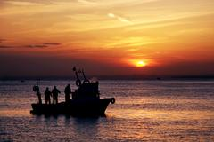 fishers at home way - stock photo