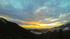Himalayan landscape sunset view time lapse. October 2013 - stock footage