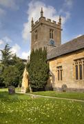Church at Stanway, England - stock photo