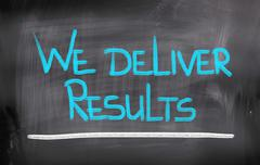 we deliver results concept - stock illustration