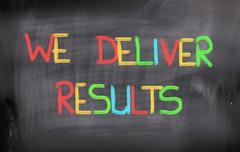we deliver results concept - stock illustration