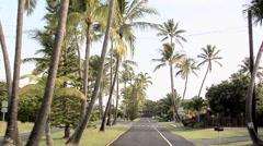 Road in Kailua Hawaii Stock Footage