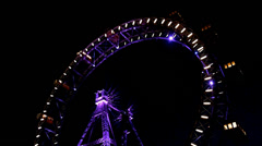 Stock Video Footage of Ferris wheel at night