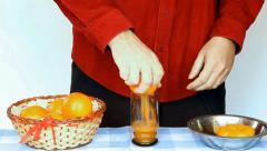 Preparation of drinks orange Stock Footage