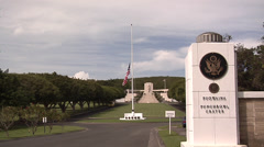 The National Memorial Cemetery of the Pacific Honolulu Hawaii Stock Footage