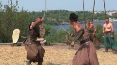 Cossacks theatrical performance Stock Footage