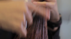 Combing Hair Close UP Stock Footage
