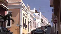 Houses on Calle De La Cruz Stock Footage