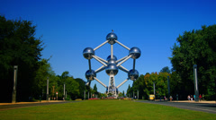 Time lapse of famous Atomium, July 20 2012, Brussels, Belgium. Stock Footage