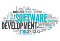 word cloud software design - stock illustration