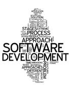word cloud software design - stock illustration