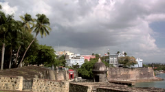 The City Walls of Old San Juan Stock Footage