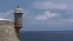The Cemetario Santa Maria Magdalena De Pazzis overlooking the Atlantic Ocean Stock Footage