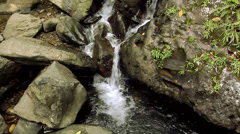 Small Creek coming from the Mountain Stock Footage