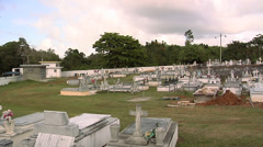 Small Cemetery near Arecibo Stock Footage