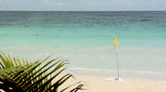 The Flamenco Beach at Culebra Stock Footage
