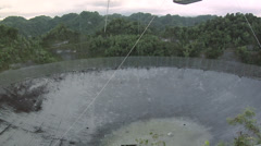 The biggest Radio Telescope in the World at Arecibo Stock Footage