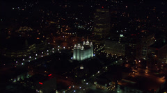 Buildings Lights Salt Lake City Stock Footage