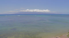 A beautiful ocean front view at kaanapali Stock Footage