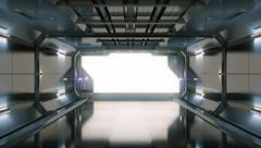 Science fiction spaceship. Stock Footage